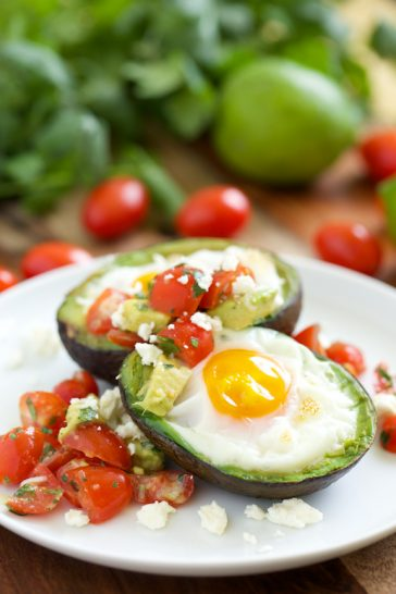 Easter Baked Avocado Eggs