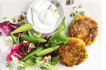 Salmon, chia and broccoli fish cakes